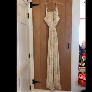 Gold and white Egyptian like prom dress